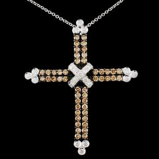 18K Gold 139ctw Fancy Diamond Pendant
