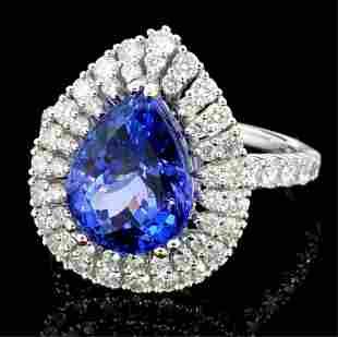 18K White Gold 397ct Tanzanite 112ct Diamond R
