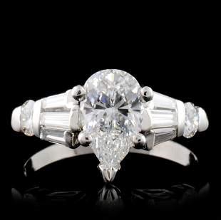 Solid Platinum 203ctw Diamond Ring
