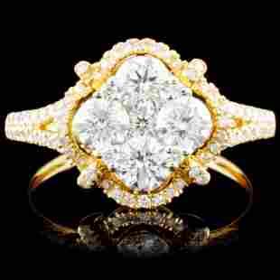 14K Gold 145ctw Diamond Ring