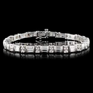 14K White Gold 473ctw Diamond Bracelet