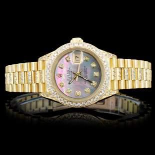 Rolex 18K 300ct Diamond Presidential Ladies Watch