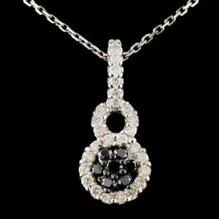 14K Gold 062ctw Fancy Diamond Pendant