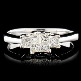 18K Gold 050ctw Diamond Ring