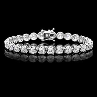 18k White Gold 1000ct Diamond Tennis Bracelet