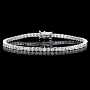 18k White Gold 500ct Diamond Bracelet