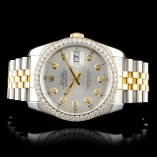 Rolex DateJust 116233 18K YGSS Diamond 36MM Watch