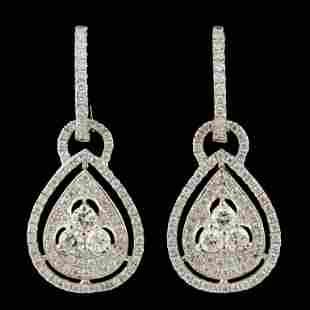 14K Gold 128ctw Diamond Earrings