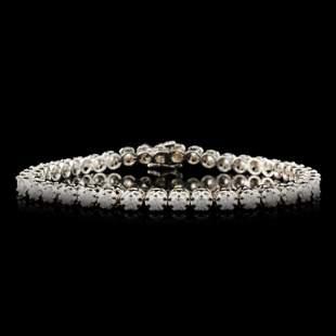 14K Gold 328ctw Diamond Bracelet