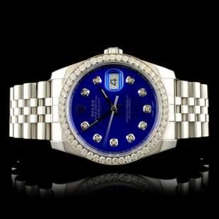 Rolex DateJust 116234 SS 135ct Diamond 36MM Watch