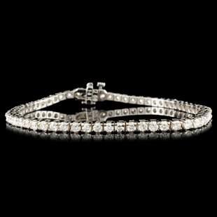 14K Gold 418ctw Diamond Bracelet