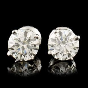 14K Gold 142ctw Diamond Earrings