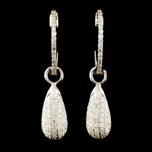 14K Gold 086ctw Diamond Earrings