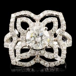 14K Gold 198ctw Diamond Ring