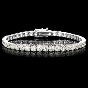 18k White Gold 1200ct Diamond Tennis Bracelet