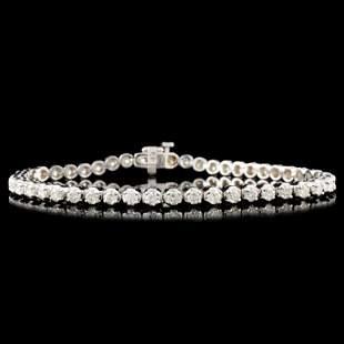 14K Gold 300ctw Diamond Bracelet