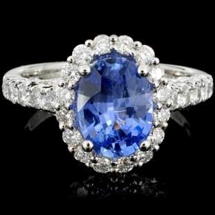 18K Gold 214ct Sapphire 068ct Diamond Ring