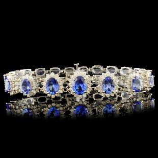 14K Gold 2940ct Tanzanite 260ctw Diamond Brace