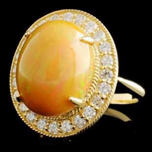 14K Gold 857ct Opal 132ctw Diamond Ring