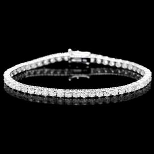 18k White Gold 750ct Diamond Bracelet