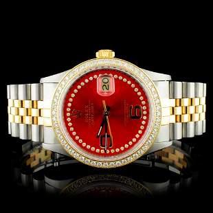 Rolex YGSS 36MM DateJust Diamond Watch
