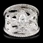 18K Gold 1.72ctw Diamond Ring