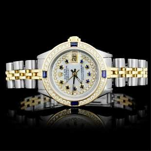 Rolex YGSS DateJust Ladies Diamond Watch