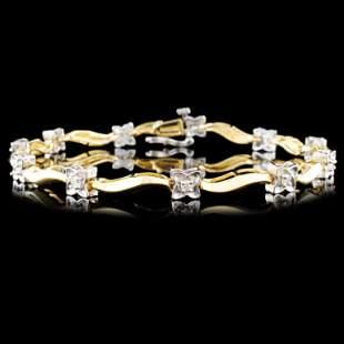 14K Gold 033ctw Diamond Bracelet