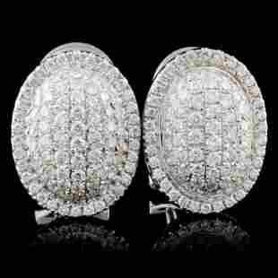 18K White Gold 117ct Diamond Earrings