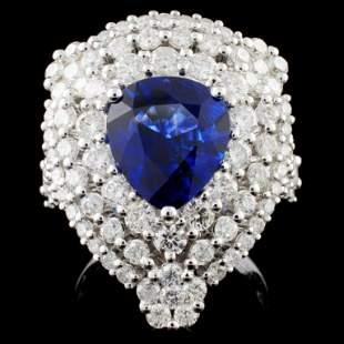 18K Gold 365ct Sapphire 182ct Diamond Ring