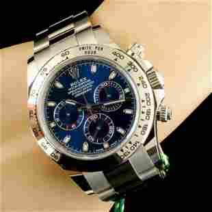 Rolex Daytona 18K Gold Blue Dial Cosmograph