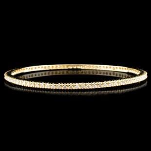 14K Gold 204ctw Diamond Bracelet