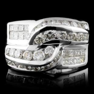 18K White Gold 218ctw Diamond Ring