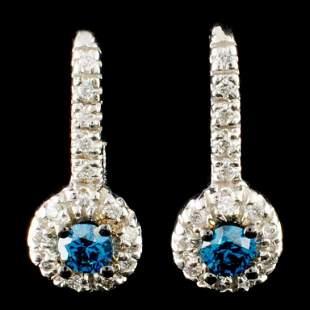 14K Gold 041ctw Diamond Earrings