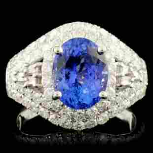 18K Gold 269ct Tanzanite 165ctw Diamond Ring