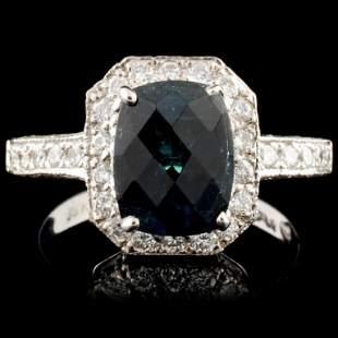 18K Gold 250ct Tourmaline 080ctw Diamond Ring