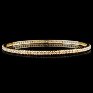 14K Gold 208ctw Diamond Bracelet
