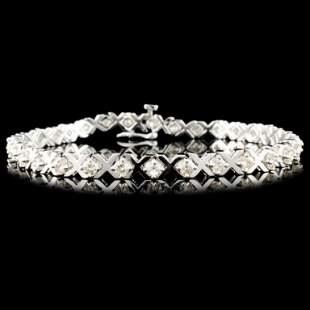 14K Gold 200ctw Diamond Bracelet