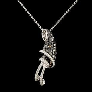 14K Gold 120ctw Diamond Pendant