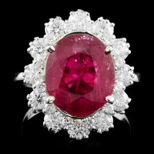 14K Gold 506ct Ruby 124ctw Diamond Ring