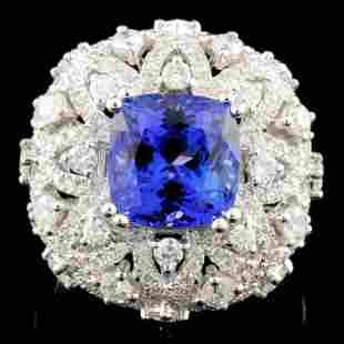 18K Gold 400ct Tanzanite 173ctw Diamond Ring