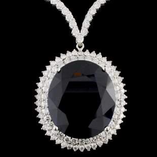 18K Gold 5027ct Sapphire 768ctw Diamond Neckla
