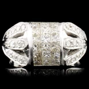 18K Gold 156ctw Diamond Ring
