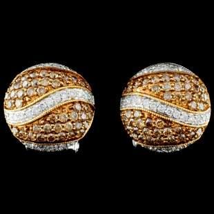14K Gold 097ctw Diamond Earrings