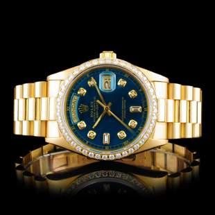 Rolex DayDate 18K YG Diamond 36mm Wristwatch
