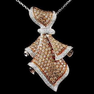14K Gold 252ctw Fancy Diamond Pendant