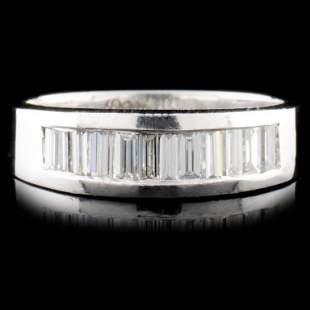 Solid Platinum 086ctw Diamond Ring