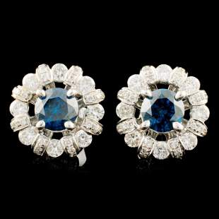 18K Gold 167ctw Diamond Earrings