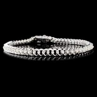 14K Gold 100ctw Diamond Bracelet