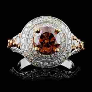 14K White Gold 303ctw Fancy Color Diamond Ring